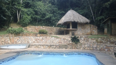 The pool at the Rainforest Lodge. It was so refreshing!